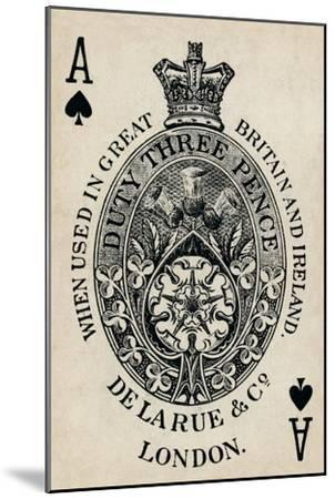Ace of Spades, 1925-Unknown-Mounted Giclee Print