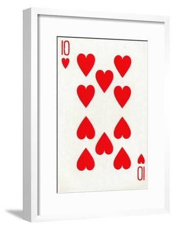 10 of Hearts from a deck of Goodall & Son Ltd. playing cards, c1940-Unknown-Framed Giclee Print
