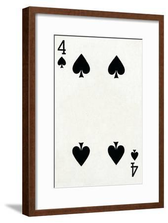 4 of Spades from a deck of Goodall & Son Ltd. playing cards, c1940-Unknown-Framed Giclee Print