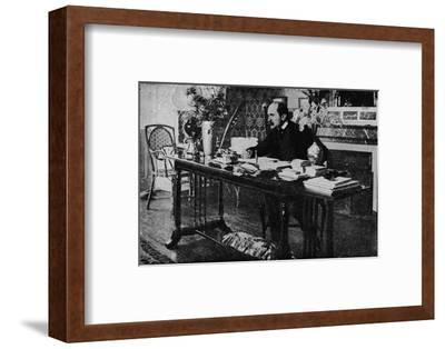 'M. Rostand in his Library', c1902, (1903)-Unknown-Framed Photographic Print