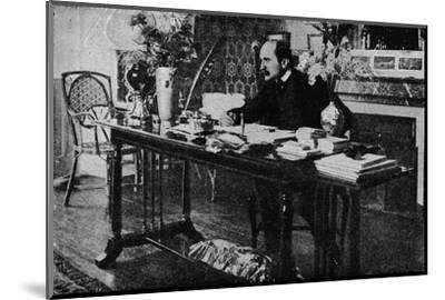 'M. Rostand in his Library', c1902, (1903)-Unknown-Mounted Photographic Print