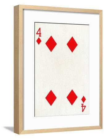 4 of Diamonds from a deck of Goodall & Son Ltd. playing cards, c1940-Unknown-Framed Giclee Print