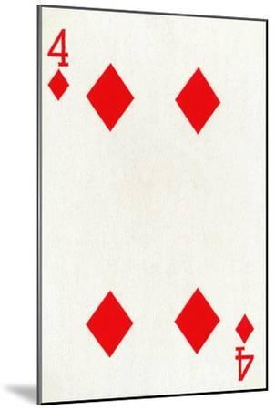 4 of Diamonds from a deck of Goodall & Son Ltd. playing cards, c1940-Unknown-Mounted Giclee Print