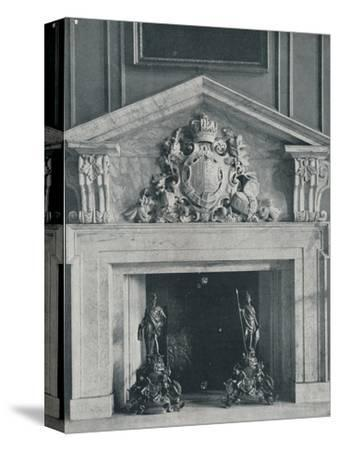 Carved Marble Chimneypiece by William Kent (1685-1748)-Unknown-Stretched Canvas Print
