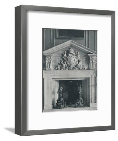 Carved Marble Chimneypiece by William Kent (1685-1748)-Unknown-Framed Photographic Print