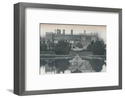 'Castle Ashby, Northants: South Side, With Fountain', c1915-Unknown-Framed Photographic Print