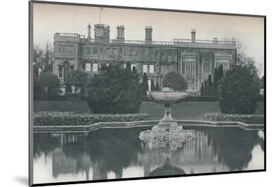 'Castle Ashby, Northants: South Side, With Fountain', c1915-Unknown-Mounted Photographic Print