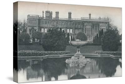 'Castle Ashby, Northants: South Side, With Fountain', c1915-Unknown-Stretched Canvas Print