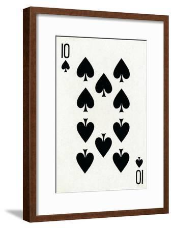 10 of Spades from a deck of Goodall & Son Ltd. playing cards, c1940-Unknown-Framed Giclee Print