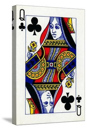 Queen of Clubs from a deck of Goodall & Son Ltd. playing cards, c1940-Unknown-Stretched Canvas Print
