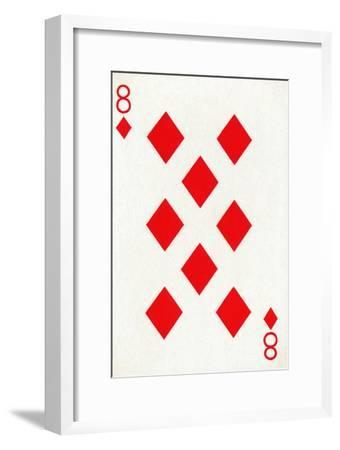 8 of Diamonds from a deck of Goodall & Son Ltd. playing cards, c1940-Unknown-Framed Giclee Print