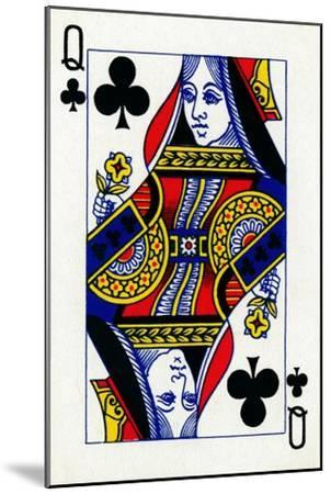 Queen of Clubs from a deck of Goodall & Son Ltd. playing cards, c1940-Unknown-Mounted Giclee Print