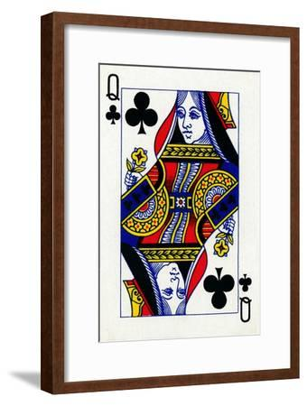 Queen of Clubs from a deck of Goodall & Son Ltd. playing cards, c1940-Unknown-Framed Giclee Print