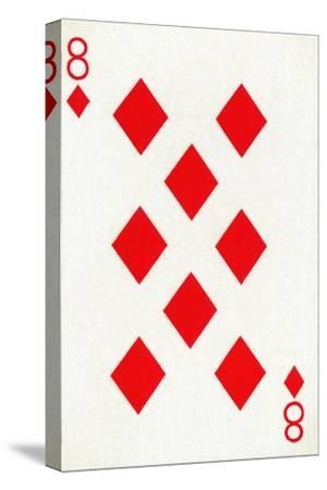 8 of Diamonds from a deck of Goodall & Son Ltd. playing cards, c1940-Unknown-Stretched Canvas Print