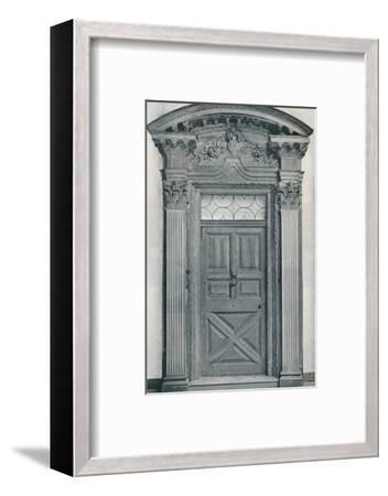 'Carved Wood Doorway, Early Eighteenth Century', 1909-Unknown-Framed Photographic Print