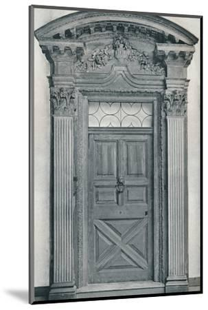 'Carved Wood Doorway, Early Eighteenth Century', 1909-Unknown-Mounted Photographic Print