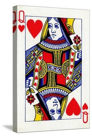 Queen of Hearts from a deck of Goodall & Son Ltd. playing cards, c1940-Unknown-Stretched Canvas Print