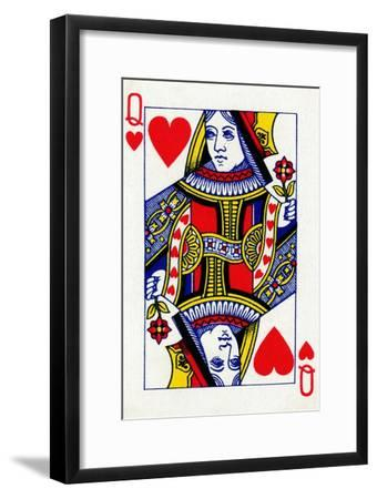 Queen of Hearts from a deck of Goodall & Son Ltd. playing cards, c1940-Unknown-Framed Giclee Print