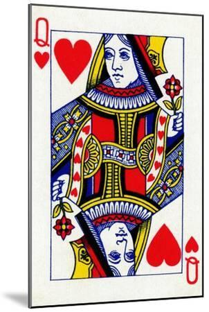 Queen of Hearts from a deck of Goodall & Son Ltd. playing cards, c1940-Unknown-Mounted Giclee Print