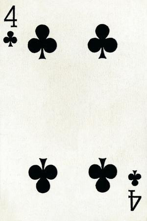 4 of Clubs from a deck of Goodall & Son Ltd. playing cards, c1940-Unknown-Framed Giclee Print