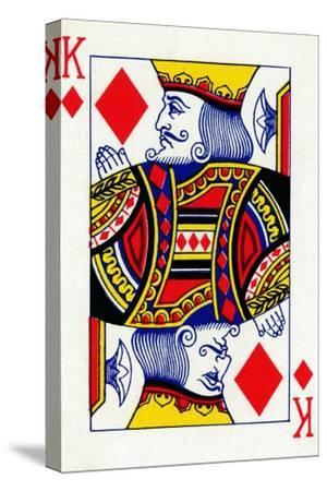 King of Diamonds from a deck of Goodall & Son Ltd. playing cards, c1940-Unknown-Stretched Canvas Print