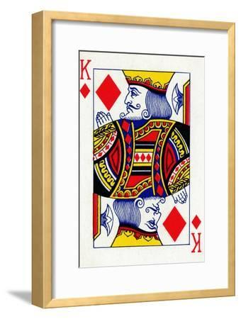 King of Diamonds from a deck of Goodall & Son Ltd. playing cards, c1940-Unknown-Framed Giclee Print