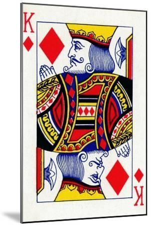 King of Diamonds from a deck of Goodall & Son Ltd. playing cards, c1940-Unknown-Mounted Giclee Print