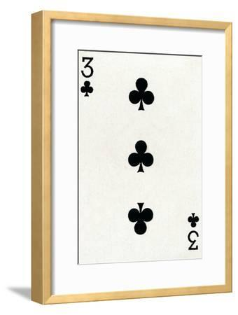 3 of Clubs from a deck of Goodall & Son Ltd. playing cards, c1940-Unknown-Framed Giclee Print