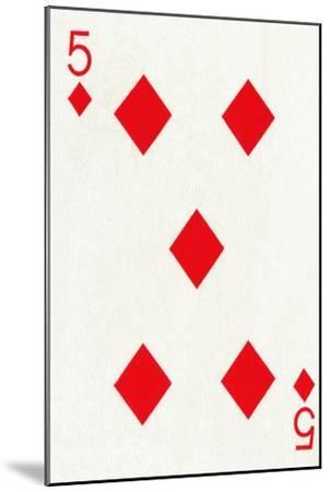 5 of Diamonds from a deck of Goodall & Son Ltd. playing cards, c1940-Unknown-Mounted Giclee Print