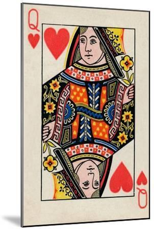 Queen of Hearts, 1925-Unknown-Mounted Giclee Print