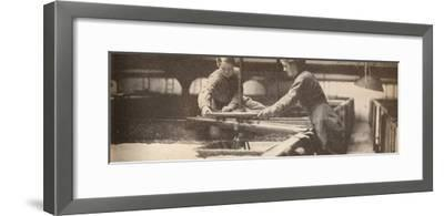 Screwing Down the Yeast in a Burton-On-Trent Brewery', c1916, (1935)-Unknown-Framed Photographic Print