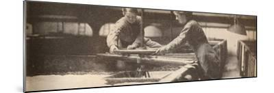 Screwing Down the Yeast in a Burton-On-Trent Brewery', c1916, (1935)-Unknown-Mounted Photographic Print