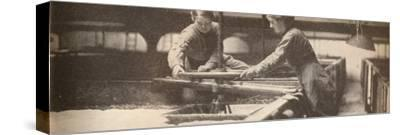 Screwing Down the Yeast in a Burton-On-Trent Brewery', c1916, (1935)-Unknown-Stretched Canvas Print