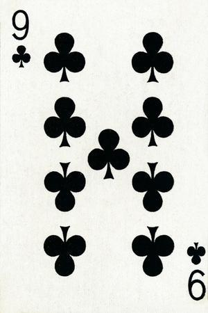 9 of Clubs from a deck of Goodall & Son Ltd. playing cards, c1940-Unknown-Framed Giclee Print