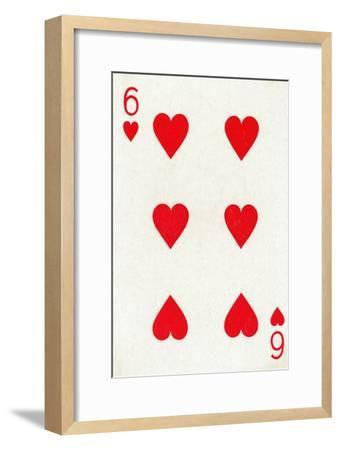 6 of Hearts from a deck of Goodall & Son Ltd. playing cards, c1940-Unknown-Framed Giclee Print