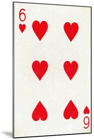 6 of Hearts from a deck of Goodall & Son Ltd. playing cards, c1940-Unknown-Mounted Giclee Print