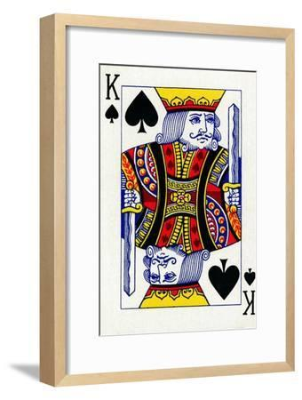 King of Spades from a deck of Goodall & Son Ltd. playing cards, c1940-Unknown-Framed Giclee Print