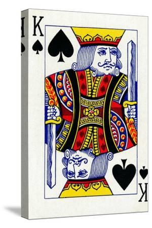 King of Spades from a deck of Goodall & Son Ltd. playing cards, c1940-Unknown-Stretched Canvas Print