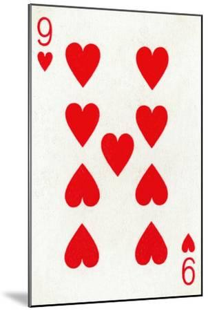 9 of Hearts from a deck of Goodall & Son Ltd. playing cards, c1940-Unknown-Mounted Giclee Print