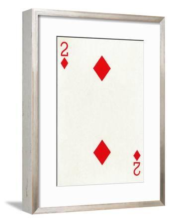 2 of Diamonds from a deck of Goodall & Son Ltd. playing cards, c1940-Unknown-Framed Giclee Print