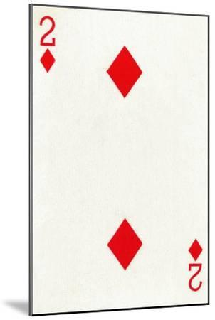 2 of Diamonds from a deck of Goodall & Son Ltd. playing cards, c1940-Unknown-Mounted Giclee Print