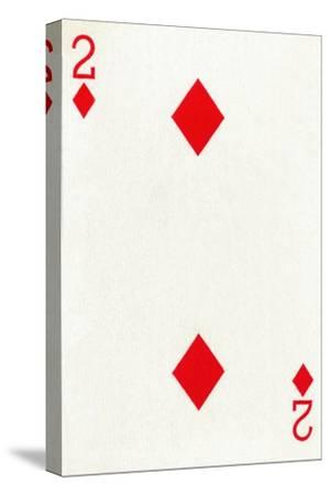 2 of Diamonds from a deck of Goodall & Son Ltd. playing cards, c1940-Unknown-Stretched Canvas Print