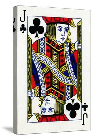 Jack of Clubs from a deck of Goodall & Son Ltd. playing cards, c1940-Unknown-Stretched Canvas Print