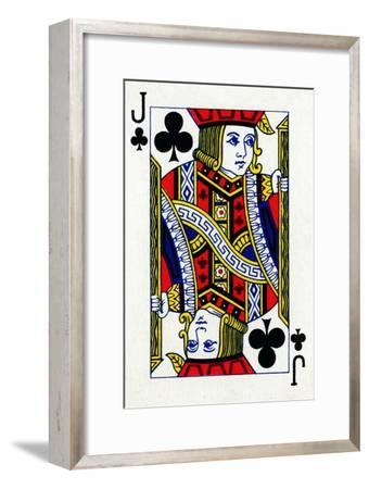 Jack of Clubs from a deck of Goodall & Son Ltd. playing cards, c1940-Unknown-Framed Giclee Print