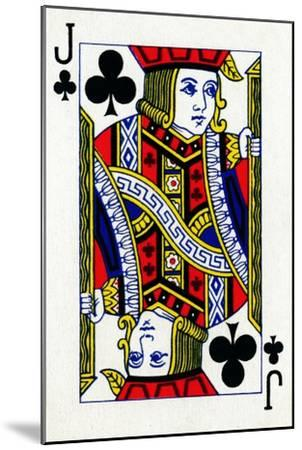Jack of Clubs from a deck of Goodall & Son Ltd. playing cards, c1940-Unknown-Mounted Giclee Print