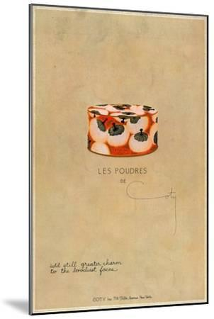'Les Poudres de Coty', c1923, (1923)-Unknown-Mounted Giclee Print