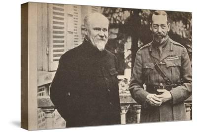'His Majesty with President Poincare at The British General Headquarters in France', c1916-Unknown-Stretched Canvas Print