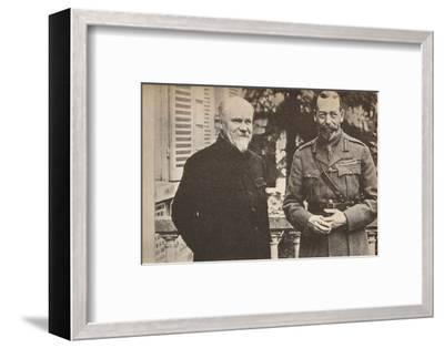 'His Majesty with President Poincare at The British General Headquarters in France', c1916-Unknown-Framed Photographic Print