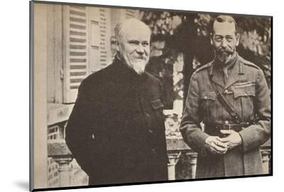 'His Majesty with President Poincare at The British General Headquarters in France', c1916-Unknown-Mounted Photographic Print