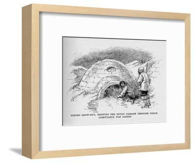 'Eskimo Snow-Hut, Showing the Outer Passage Through Which Admittance was Gained', c1927-Unknown-Framed Giclee Print